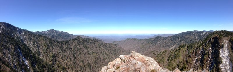 View on top of the first boulder at Charlie's Bunion