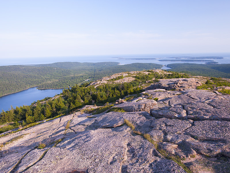 View from the summit of Penobscot Mountain.