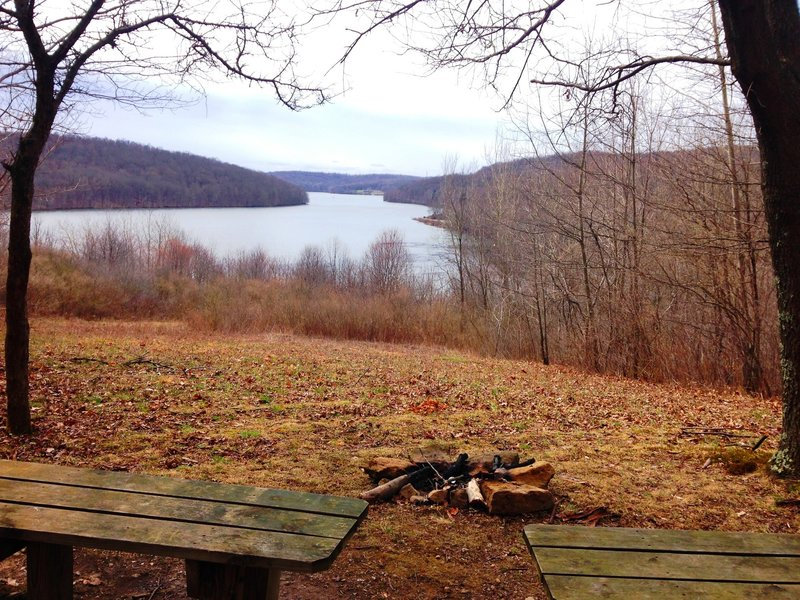Overlooking Lake Arthur.