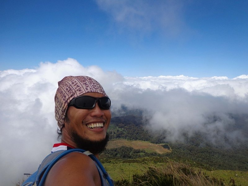 Picture taken at the summit, with Lake Venado at the back.