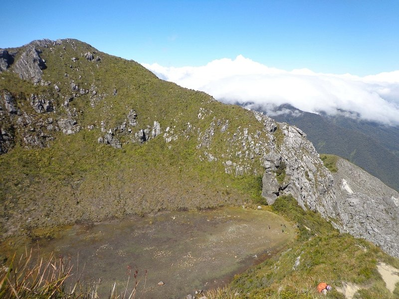 The dead crater of Mt. Apo.