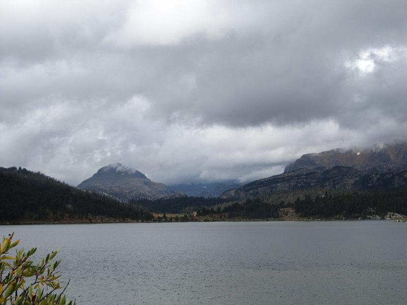 Beartooth Plateau across Island Lake.
