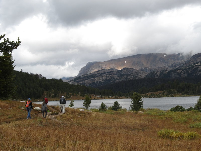 Beartooth Plateau from the west side of Island Lake