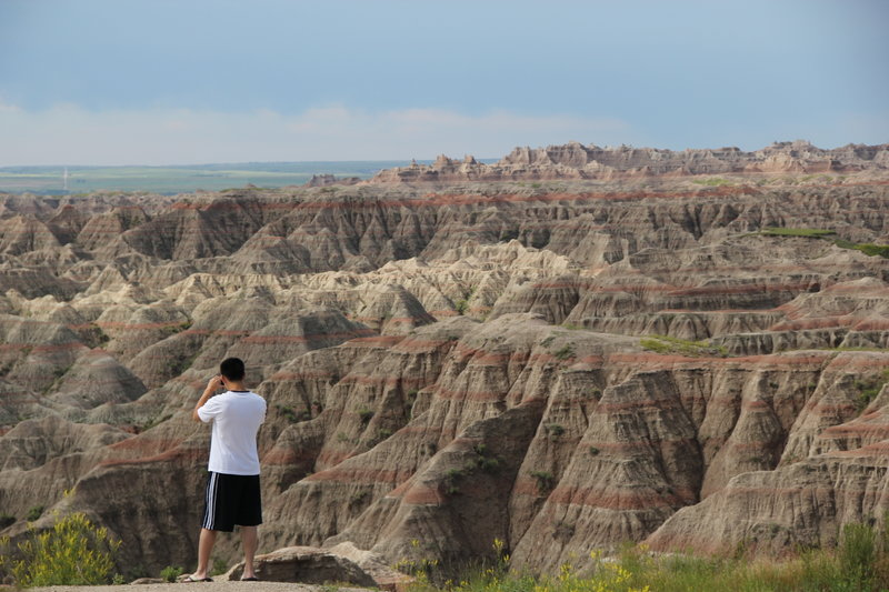 Looking out over at Big Badlands.