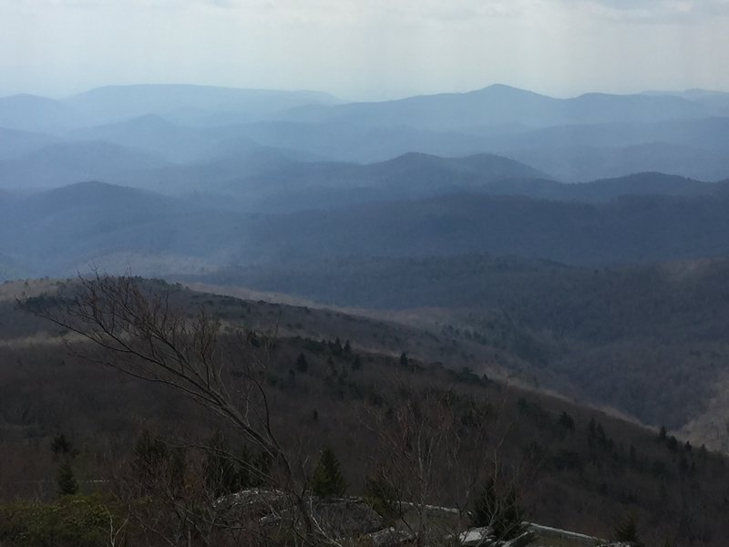 Layers of Blue Ridge Mountains.