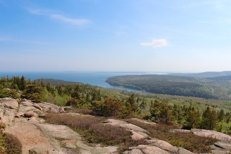 View of Otter Cove from the Gorham Mountain Trail.