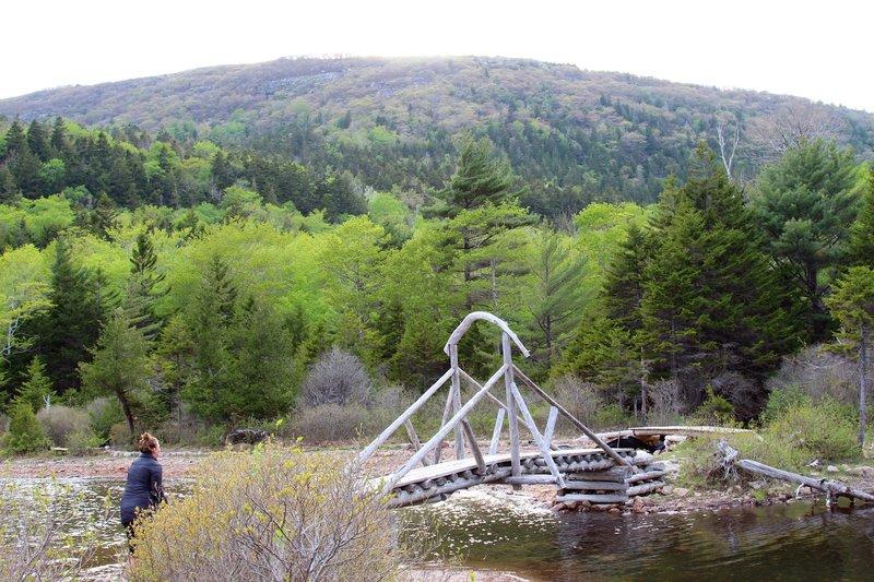 Marlean on the Jordan Pond Path Trail.