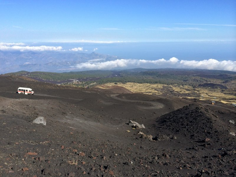 The view off of Mt. Etna