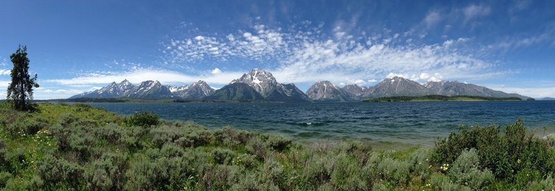 View from Marie Island on Jackson Lake.