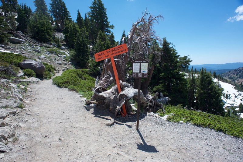 The trail to Bumpass Hell can be dangerous in the early summer to due snow and ice still on the trail.  Make sure you bring proper traction devices for the trip down.