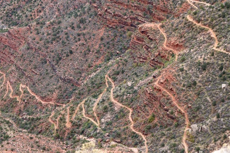 Bright Angel Trail in the Grand Canyon.