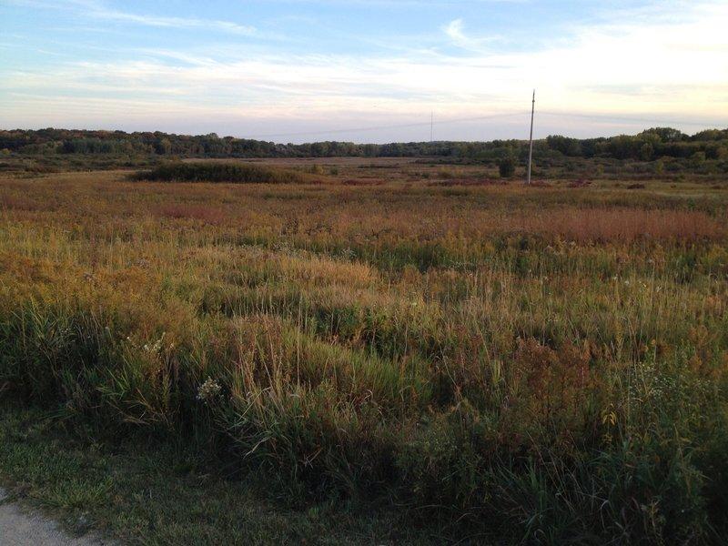 Overlooking prairie from the Main Loop.