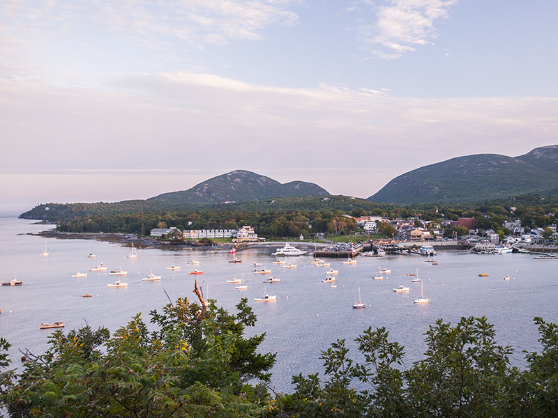 View of Bar Harbor from Bar Island.