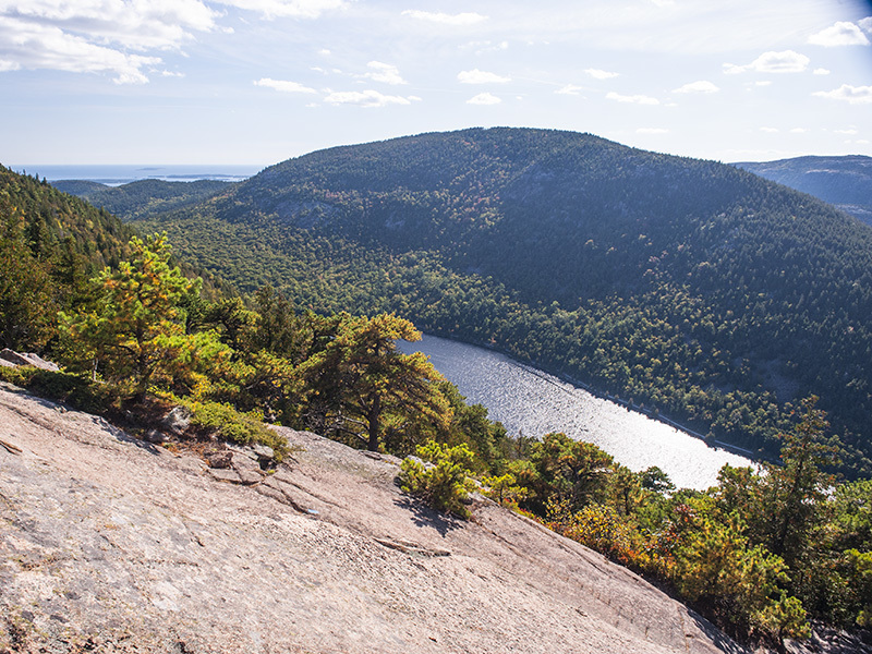 View of Bubble Pond from Cadillac West Face Trail.