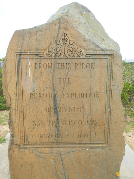 San Fransico Bay discovery monument.