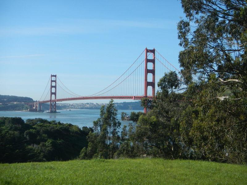 Almost the whole Golden Gate Bridge.