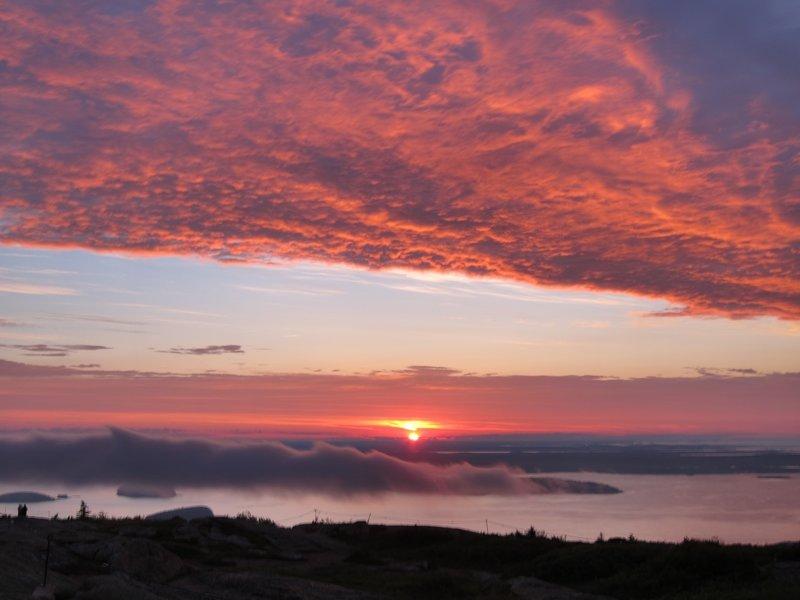 Sunrise from Cadillac Mountain.