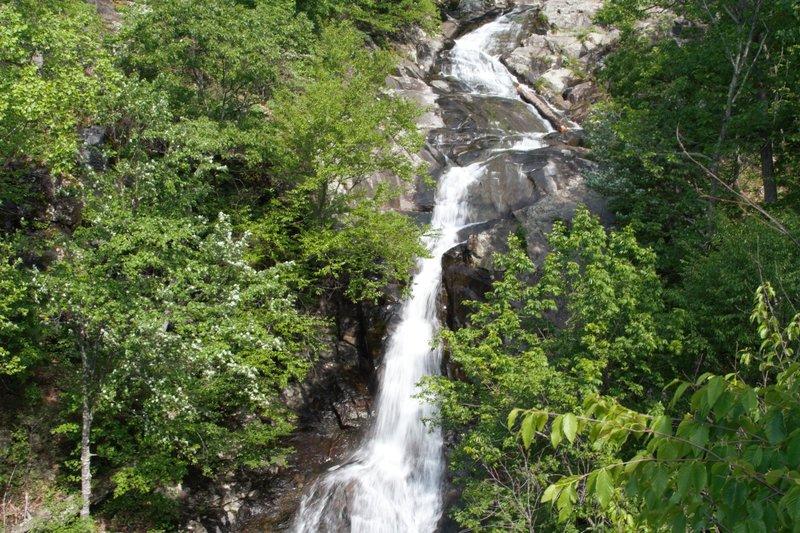 The upper Whiteoak Canyon Falls.
