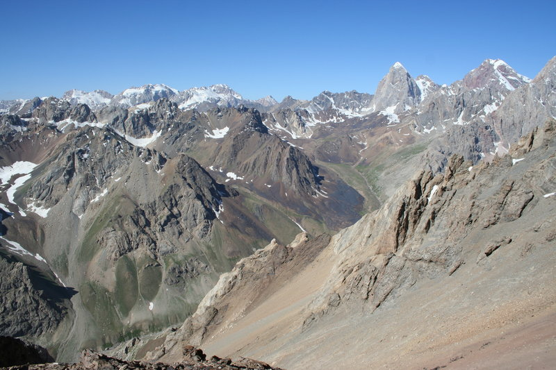 The view from the pass.