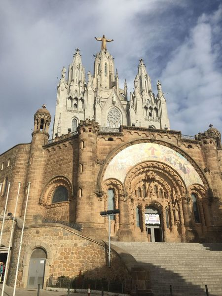 Tibidabo Monastary near the start of the trail.