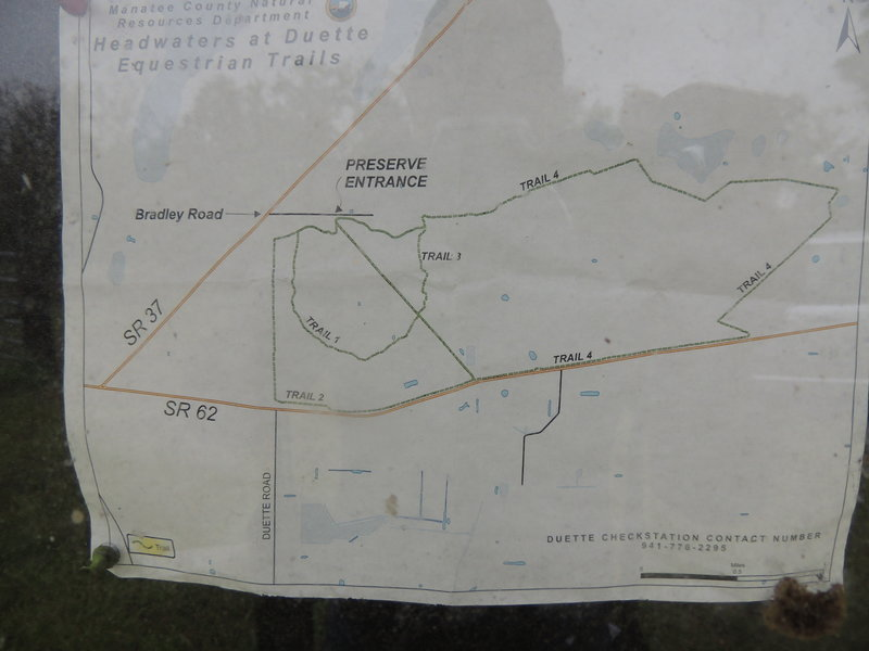 This is a map of the trails at this preserve.