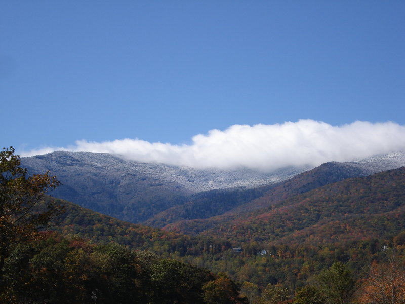 The Black Mountains are one of many ranges visible from the MST.