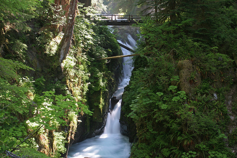 Sol Duc Falls. with permission from Dean Goss All Rights Reserved