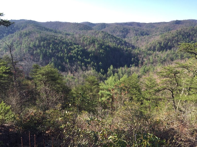 View of the South Mountains from the one of the high points on the Upper Falls Trail.