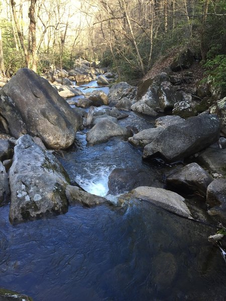 Jacob's Creek downstream of the falls.