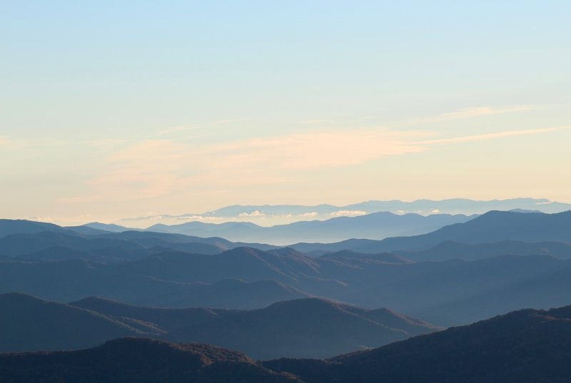 Plenty of mountains to view from Clingman's Dome.