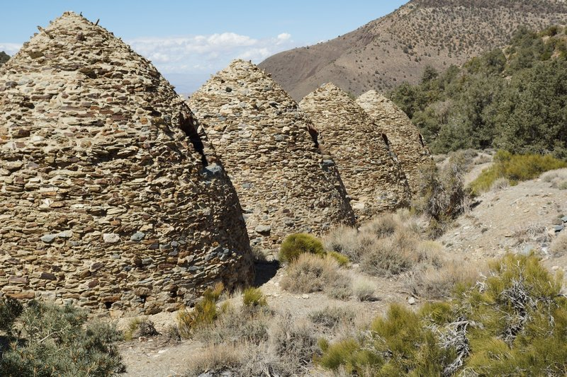 Charcoal Kilns line the trail to Wildrose Peak