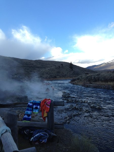 The boiling river trail, super fun but smelled of sulfur!