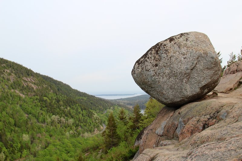 Bubble Rock, Acadia National Park.
