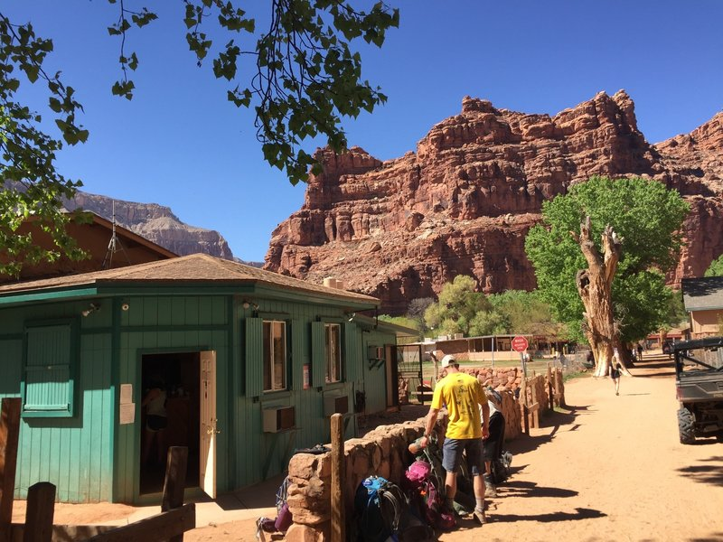 The Havasupai Tourist Office in Supai, AZ.