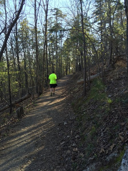 This is a popular trail for runners.