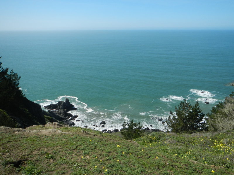With the fog gone, oh my what a beautiful coast!