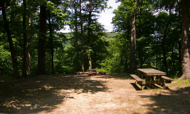 A quiet picnic area along the trail.