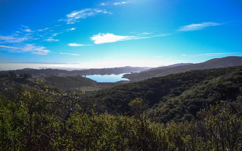 San Adreas Lake from afar.