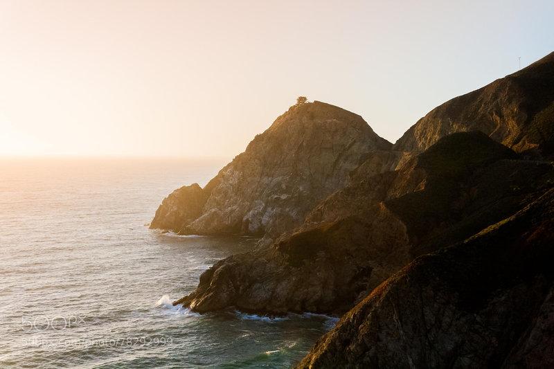Looking up the coast on the California Coast Trail.