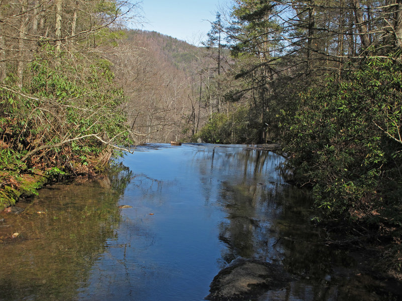 Before Jakob Fork turns into High Shoals Falls.