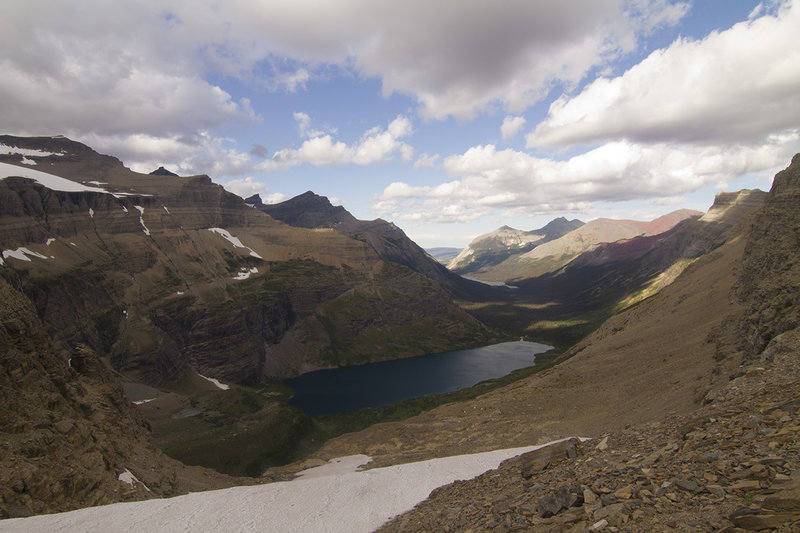 View of Helen Lake from Ahern Pass
