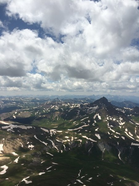 Incredible view from the peak.