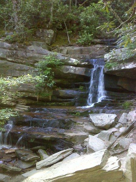 Hidden Falls, Hanging Rock State Park. Photo by PJ Wetzel, www.pjwetzel.com.