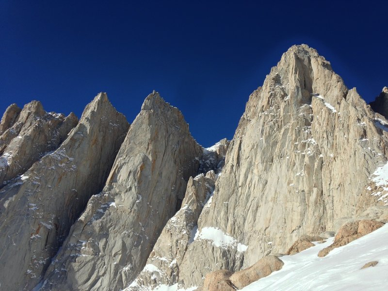 Mt Whitney from Iceberg Lake.