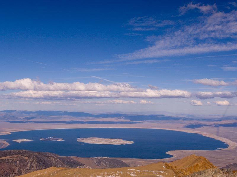View of Mono Lake from the summit of Mount Dana.