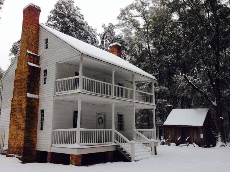 Harmony Hill Plantation on MST Segment 13B in the snow.