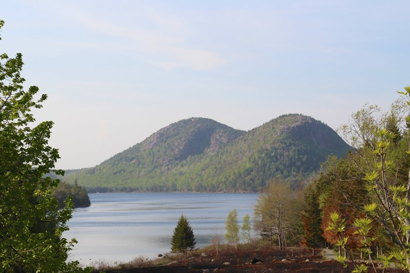 Looking at Jordan Pond from the Acadia Jordan Pond House.