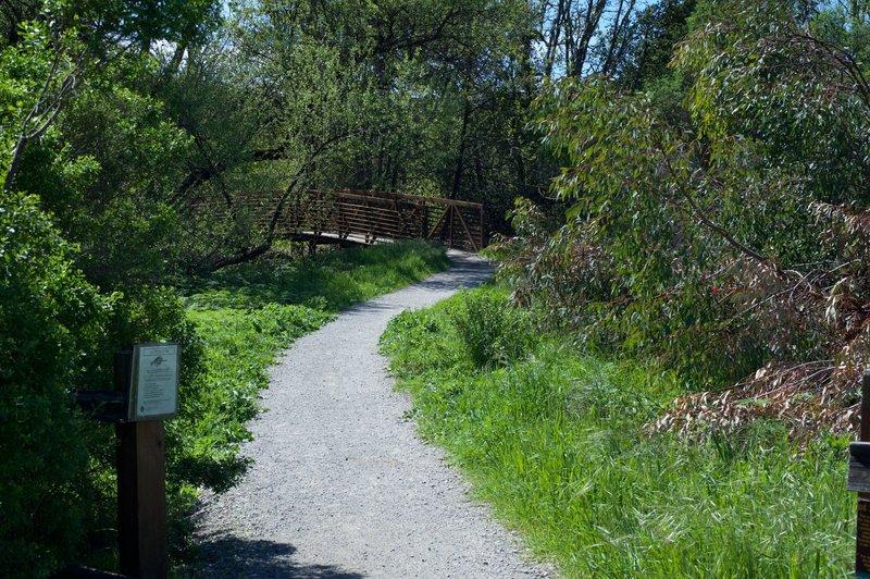 The Juan Bautista de Anza Trail as it departs from Arastradero Road.