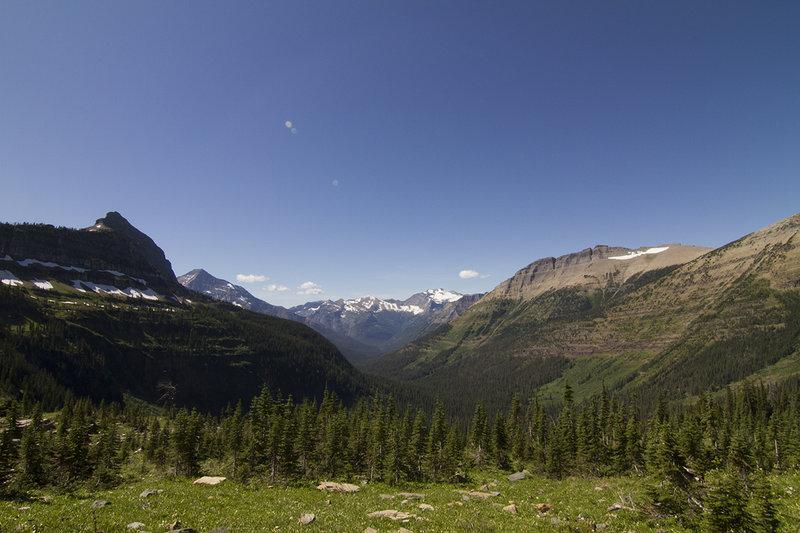View from meadows below McClintock Peak towards the Nyack region.