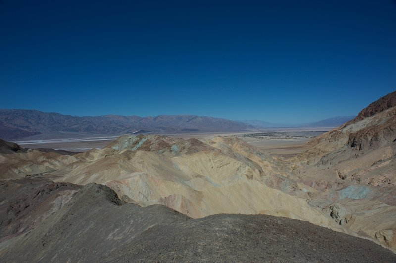 The views at the end of the trail are breathtaking. You can see Death Valley, the salts flats, the Furnace Creek area, and the geologic rock colors that make Death Valley famous.
